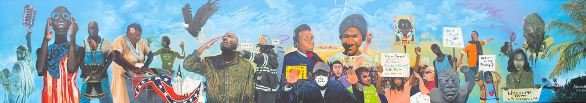 Thunder and Enlightening Mural | OneUnited Bank