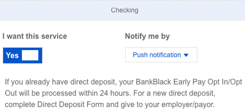 Early Pay | Opt In | OneUnited Bank
