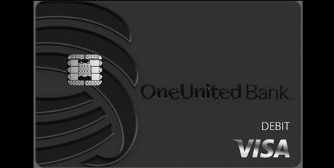 BankBlack Tap to Pay Visa Debit Card | OneUnited Bank