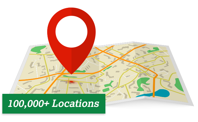 Access to Over 100,000 Locations Nationwide
