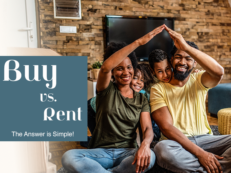 Buy vs Rent - The Answer is Simple!